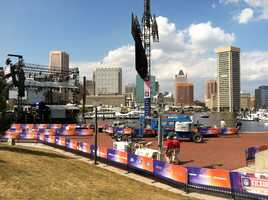 The Inner Harbor serves as the background for the concert stage.