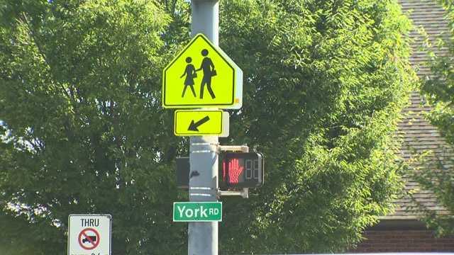 York Road at Stevenson crosswalk locator