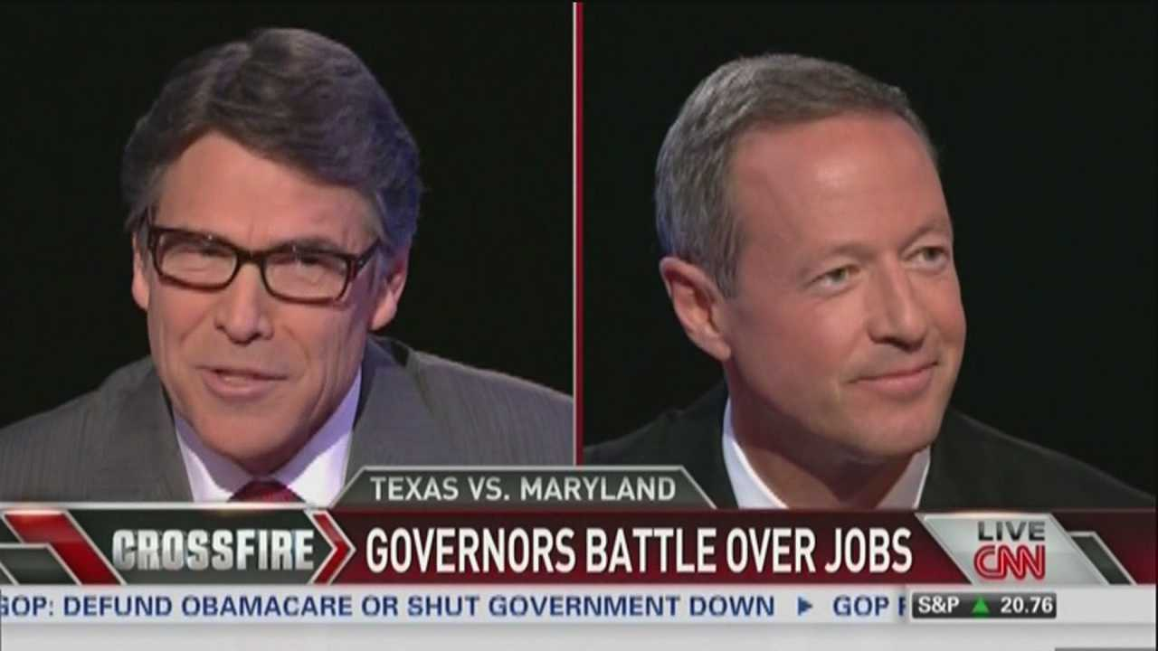 O'Malley, Perry go head-to-head in CNN debate