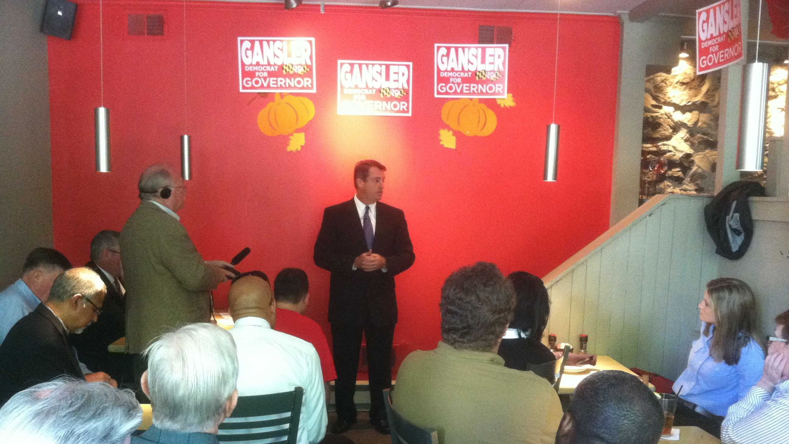 Attorney General Doug Gansler announces his candidacy for governor.