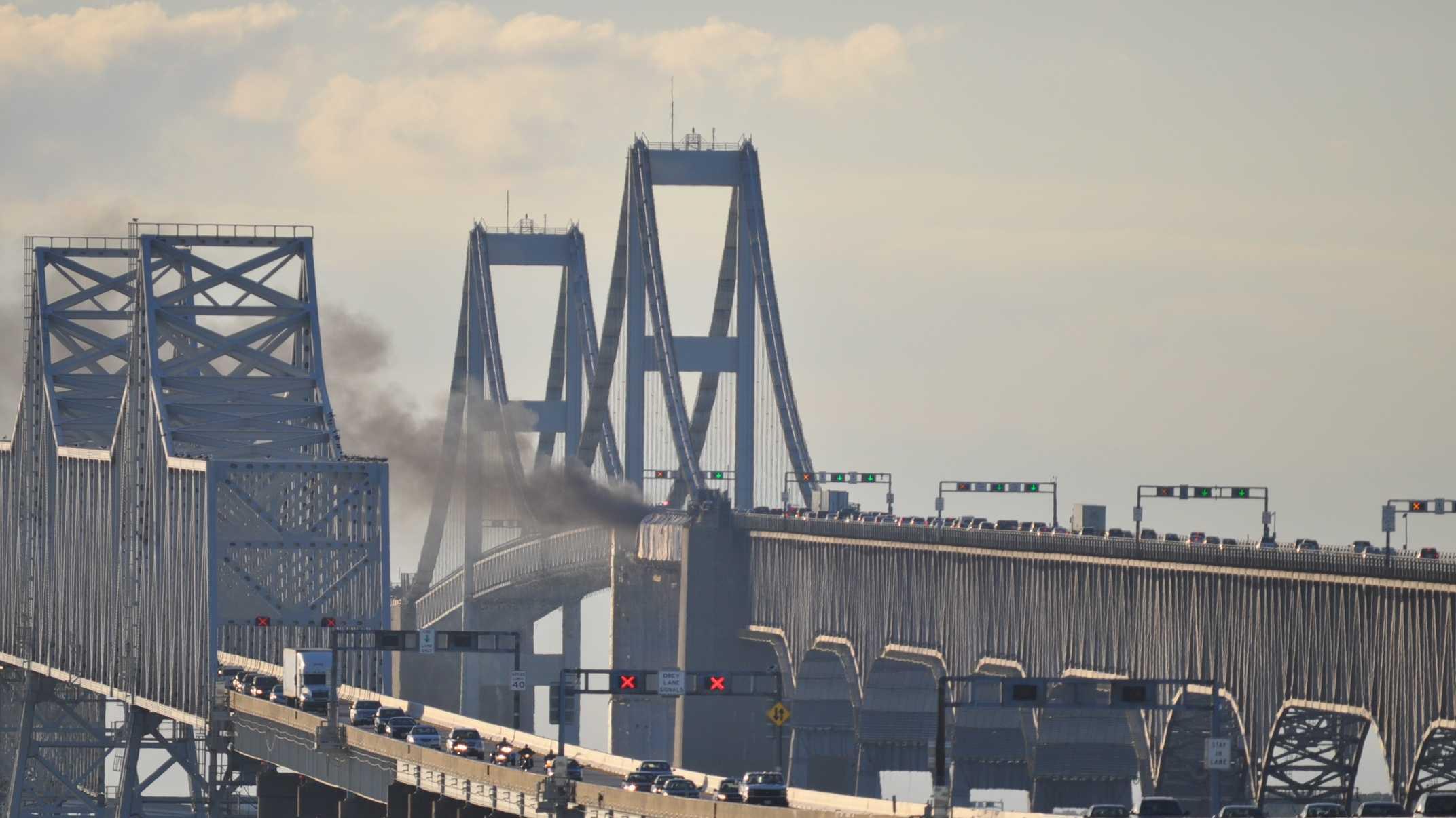 Chesapeake Bay Bridge fire