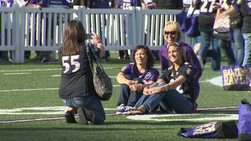 The girls night out included appearances by Ravens players.