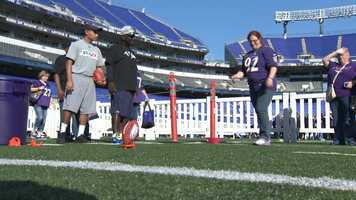Hundreds of lady Ravens gathered at the stadium for the event that shines the spotlight on female fans who get to enjoy on-field activities, a locker room tour and fan forums.