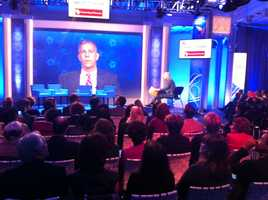 U.S. Secretary of Education Arne Duncan addresses educators at the Education Nation summit in New York.