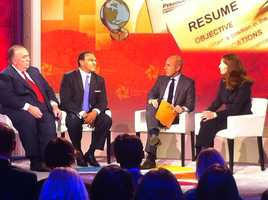 Prominent American educator Freeman Hrabowski (second from left), who has served as president of the University of Maryland, Baltimore County since May 1992, sat in a panel discussion with the Today Show's Matt Lauer (second from right).