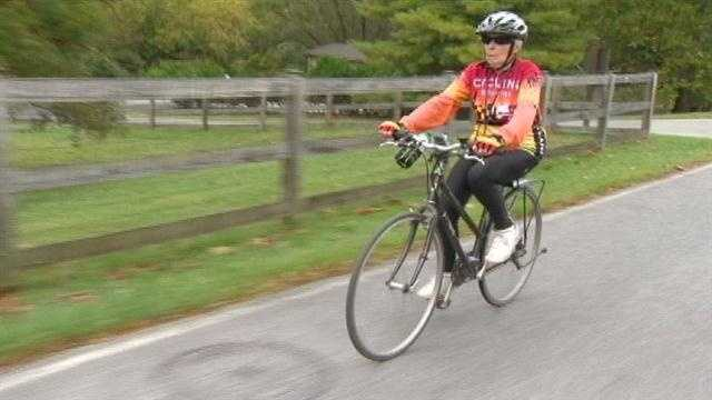 Grandmother cycles her way to health