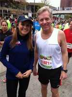 11 Insta-Weather PLUS meteorologists Ava Marie and Tom Tasselmyer before Tom takes to the Half Marathon.