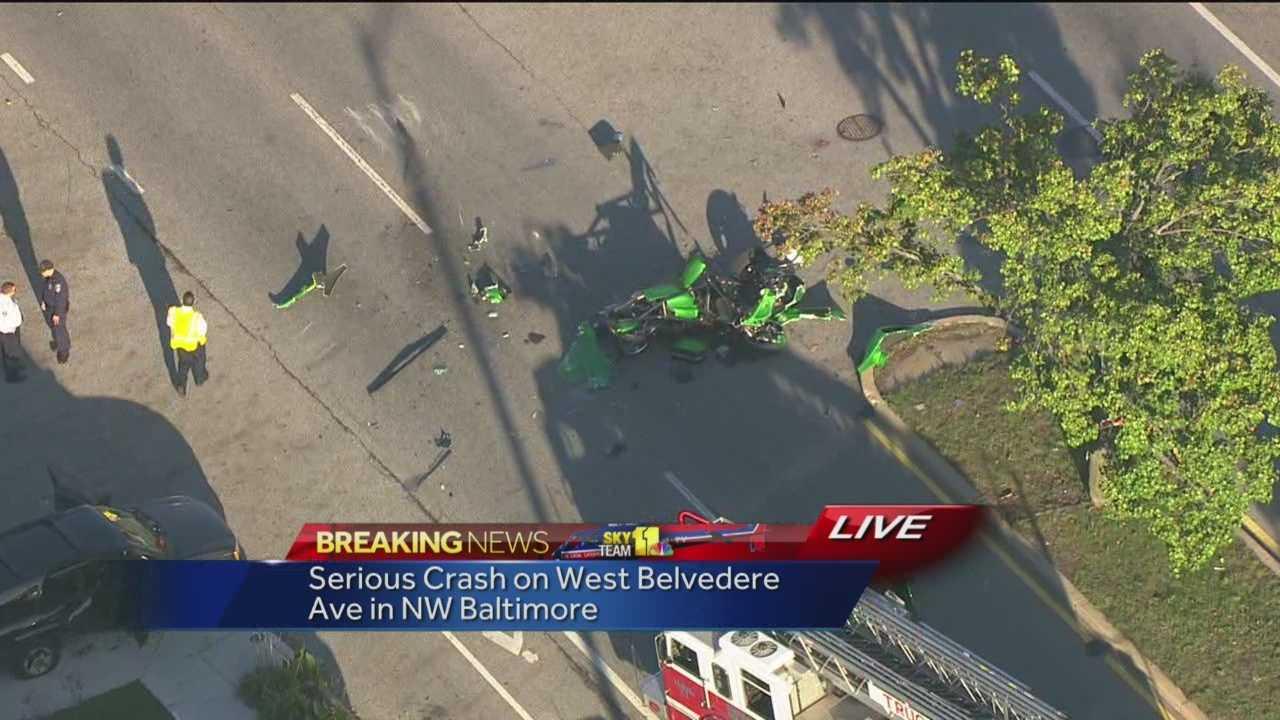 Belvedere Avenue motorcycle crash
