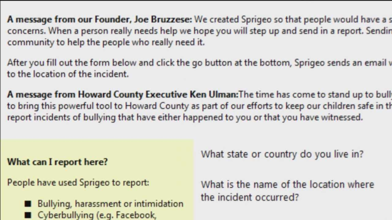 New online bully reporting system implemented in Howard County