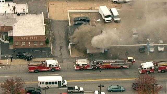 Car dealership fire