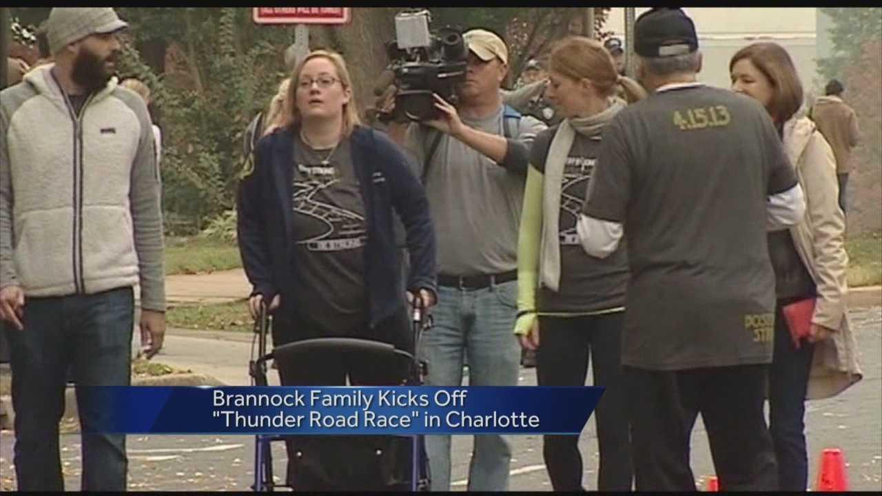 Erika Brannock at Thunder Road Race in Charlotte, N.C.