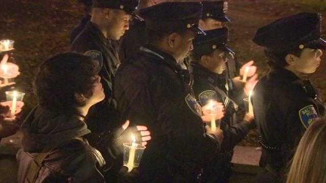 police officer vigil