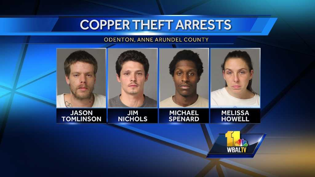 4 copper theft suspects