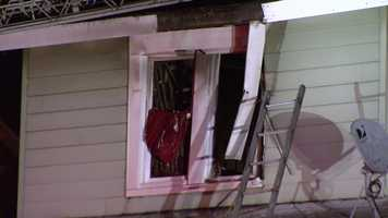 The fire happened in the 3600 block of Ferndale Avenue shortly before 8 p.m. Sunday.