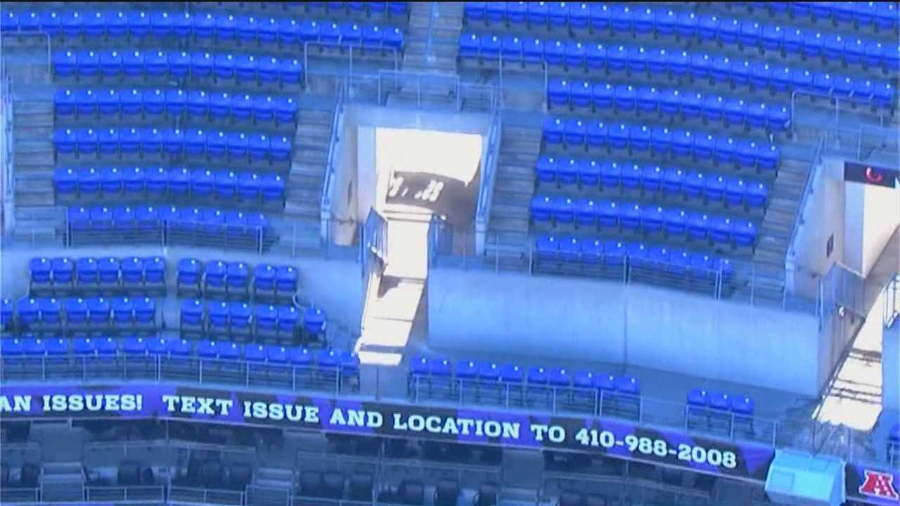 Man injured in stairs fall at M&T Bank Stadium