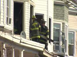 A north Baltimore family is displaced after a house fire destroyed their home Sunday morning.