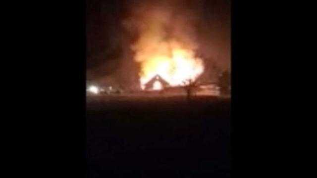 Viewer video of Lineboro fire