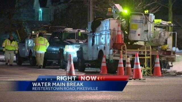 Pikesville water main fix
