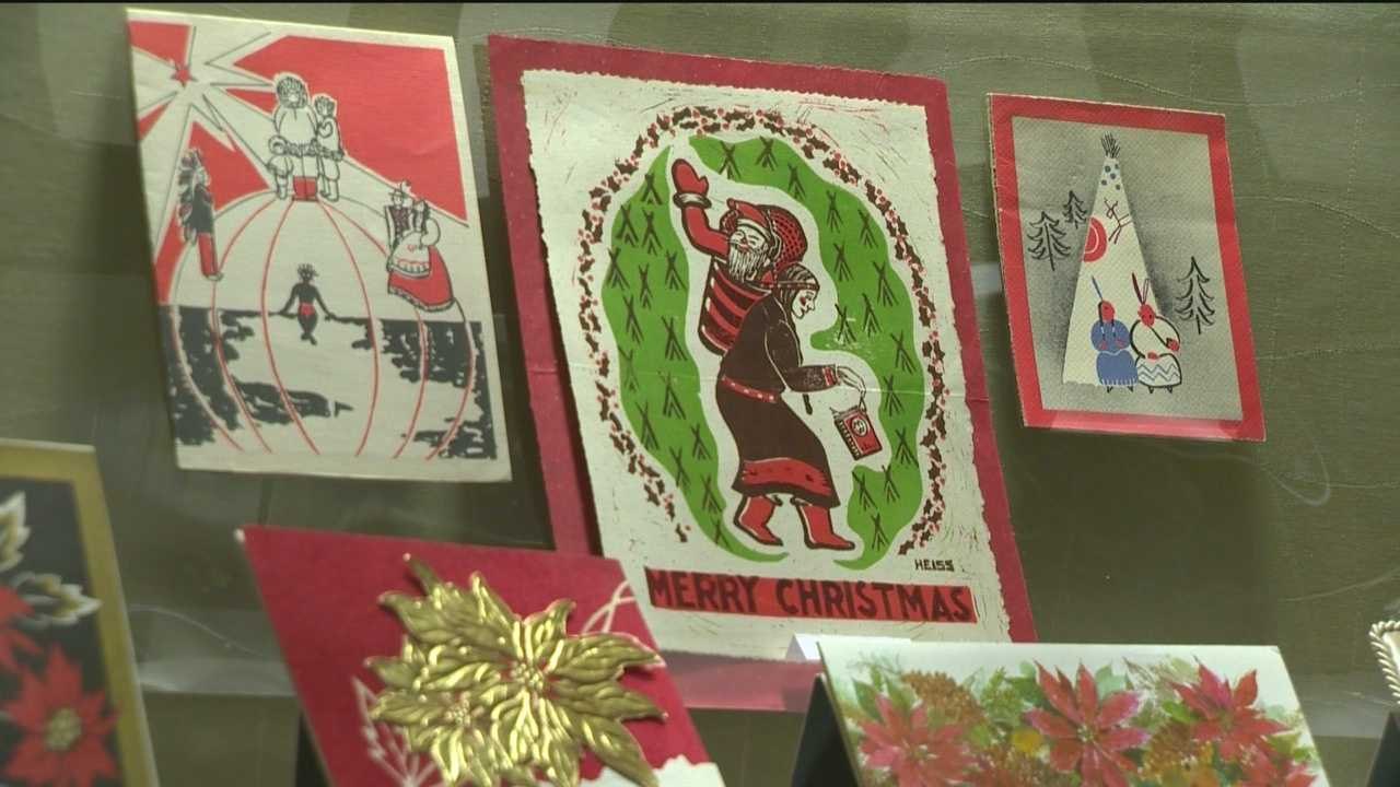 More than 450 historic greeting cards date back to 1870 and have been donated over the years to the Enoch Pratt Free Library in Baltimore and are on display.