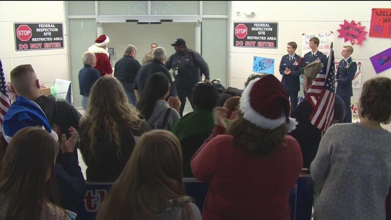 Troops given holiday welcome at BWI