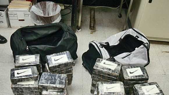 Nearly 128 pounds of cocaine were seized from a shipping container at the Port of Baltimore, the largest bust of its kind since 2007.