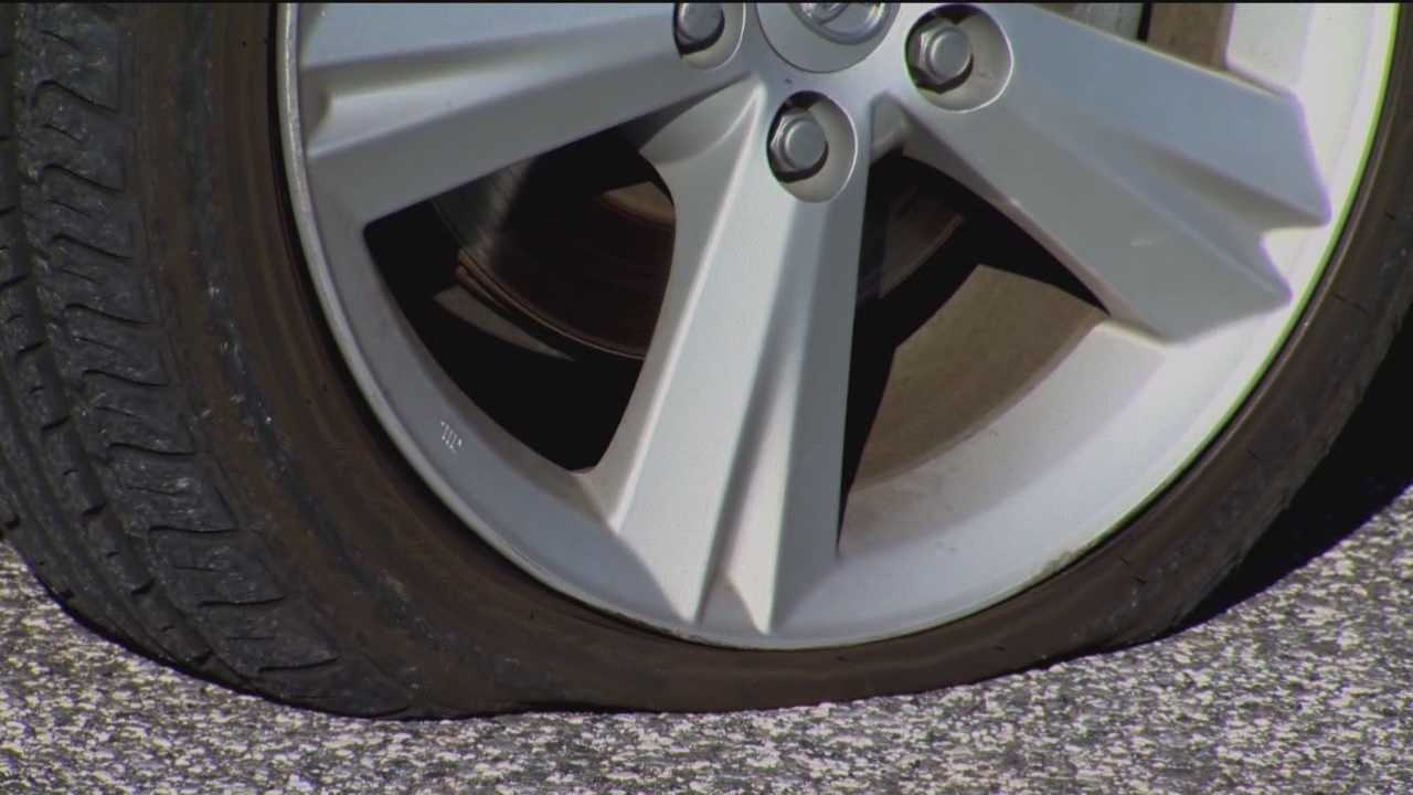 Debris falling from I-95 overpass damages cars