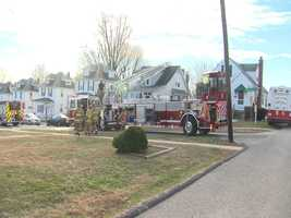 Several people were displaced on Christmas Day after a house fire in Overlea,