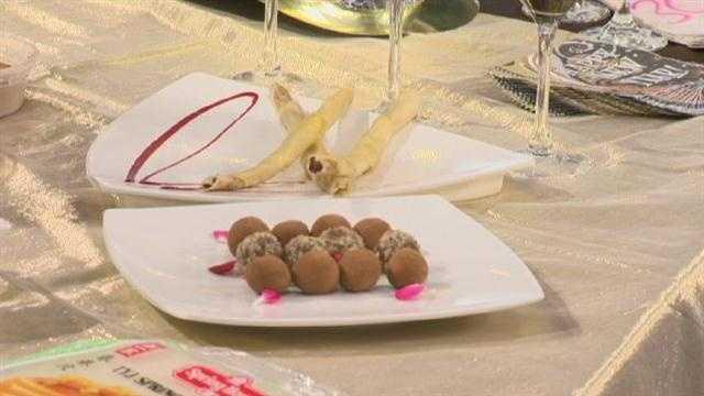 Chocolate caramel truffles,Shiitake Chop Sticks