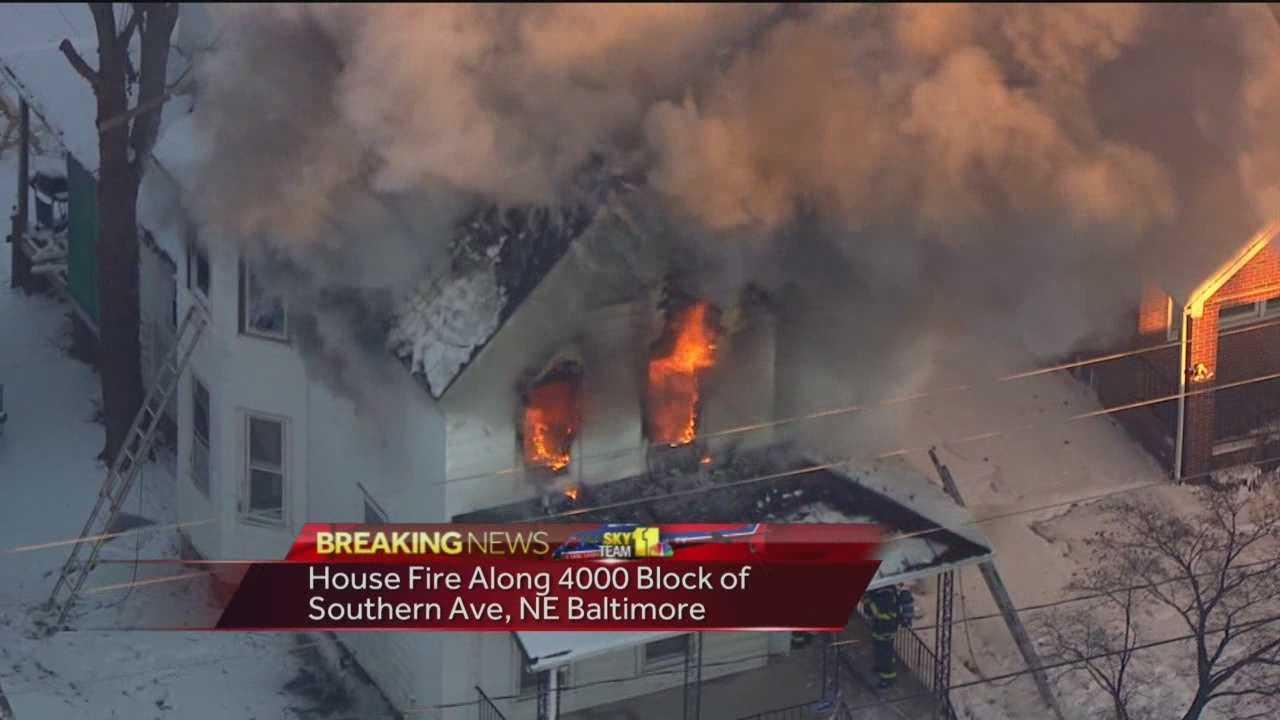 Southern Avenue fire Baltimore
