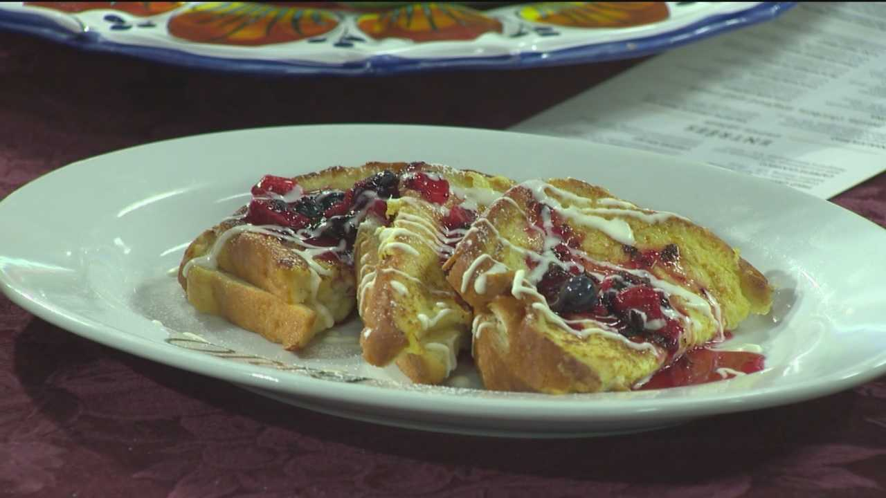 Sunday Brunch berries and cream French toast