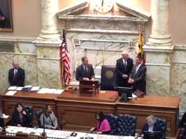 Jan. 8:Gov. Martin O'Malley visits House chamber on first day of Session 2014.
