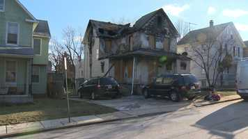 Fire destroys a house early Sunday morning in the 5600 block of Greenhill Avenue in northeast Baltimore.