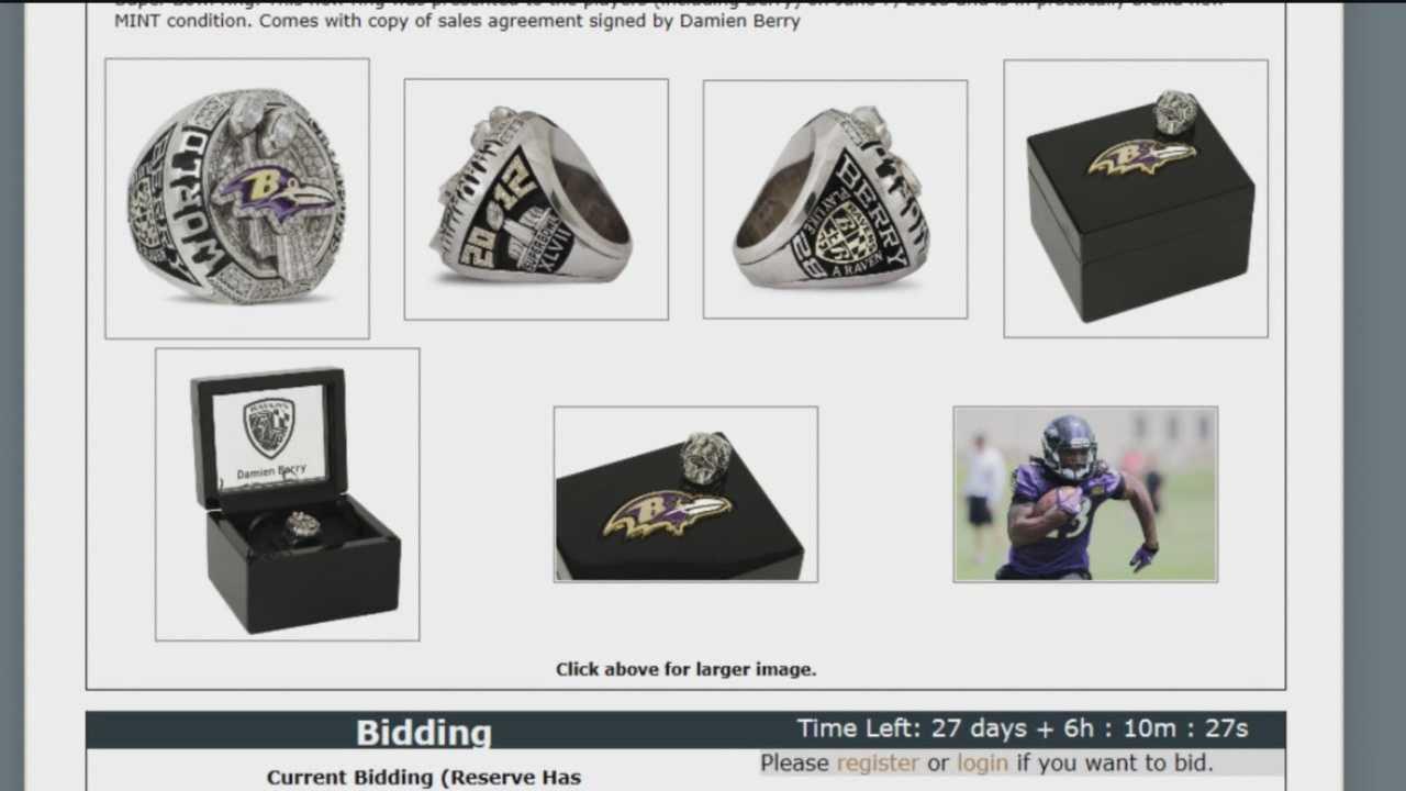 Damien Berry Super Bowl ring