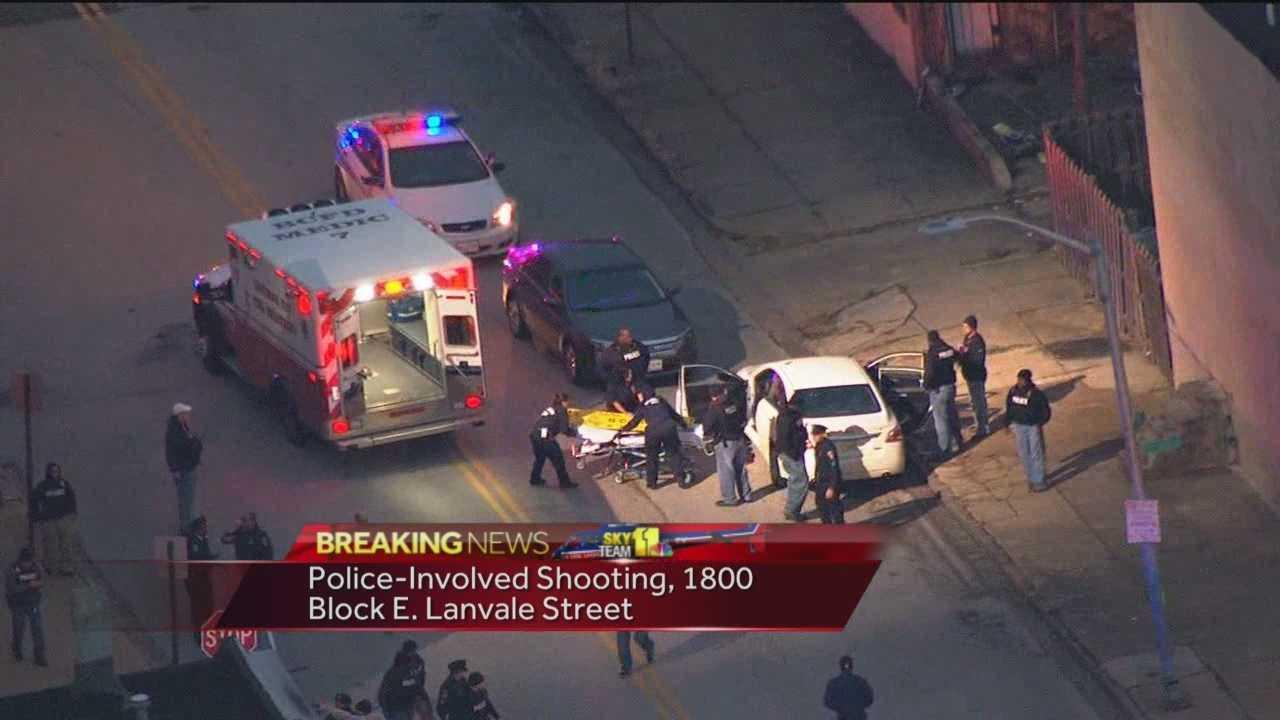 Police-involved shooting scene