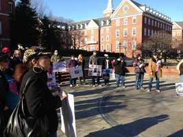 Jan. 17: Supporters of legislation that doesn't single out pit bulls as inherently dangerous dogs rally on Lawyers Mall.