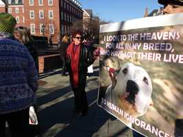Jan. 17: Supporters of pit bull legislation rally.