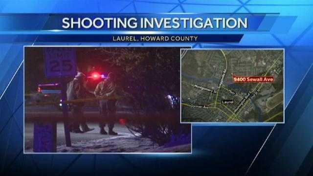 Sewall Avenue Laurel shooting scene