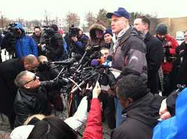 Howard County Police Chief William J. McMahon at press briefing.