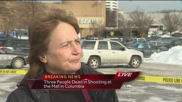 A mall employee and witnesses describe a chaotic scene as people moved to safety after a shooting at the Mall in Columbia.
