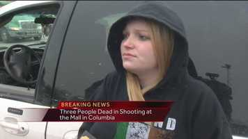 A store employee at the Mall in Columbia describes the circumstances during a shooting at the mall
