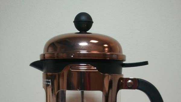Bodum rose gold glass coffee presses