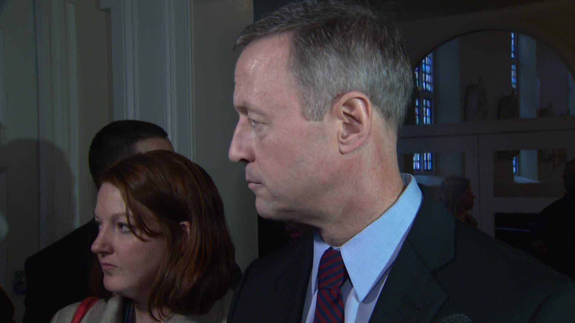 """We will have a need for a new leader once President Obama's term is over, so I've been preparing in terms of the thought work, the policy work and the ground work necessary to offer a better direction for our country,"" Gov. Martin O'Malley said Monday."