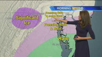 Ava Marie's explanation of where the ice/rain line was.