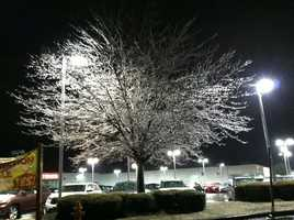 Ice in Clarksville, Howard County, at 3 a.m.