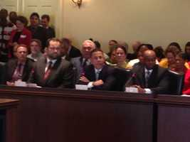 Feb. 11: Lt. Gov. Anthony Brown testifies at the minimum wage bill hearing.