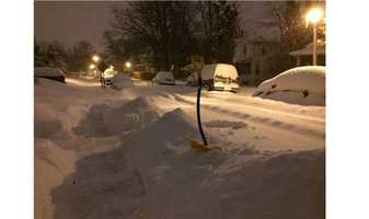 Lauraville in northeast Baltimore early Thursday morning.