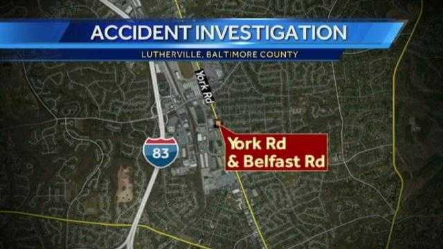 York Road crash graphic