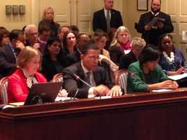 Feb. 21: Lt. Gov. Anthony Brown testifies on new domestic violence legislation.