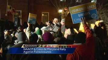 Feb. 24: The NAACP and Casa de Maryland rally for a foreclosure moratorium in the state.