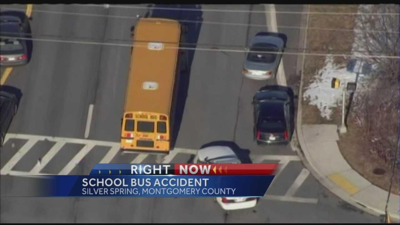 school bus hits man